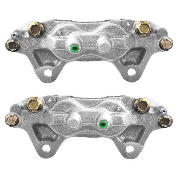 Front Disc Brake Caliper Pair Metal Piston - Part # BCPKG0004