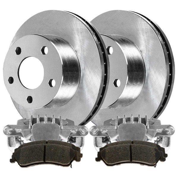 [Rear] Calipers w/Rotors&Semi Metallic Brake Pads Set - Part # BCPKG00681