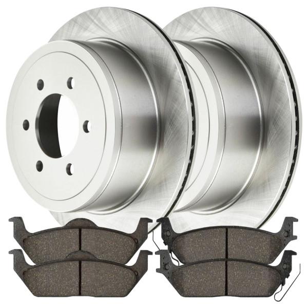 Rear Set of Rotors & Performance Pads - Part # BRAKEPKG1057