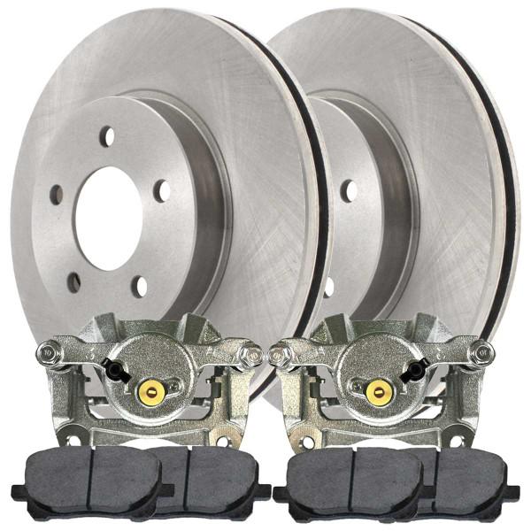 Front Disc Brake Caliper Performance Brake Pad and Rotor Bundle 1 Piston Caliper - Part # BRAKEPPK00269