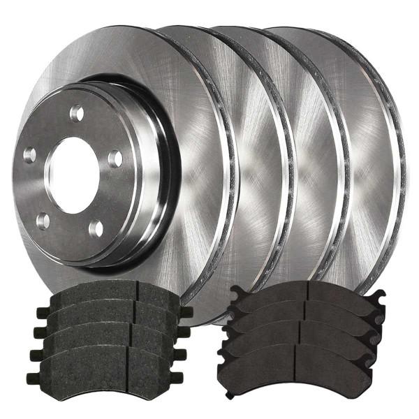 Front and Rear Performance Ceramic Brake Pad and Rotor Bundle 5 Stud - Part # BRKPKG0061