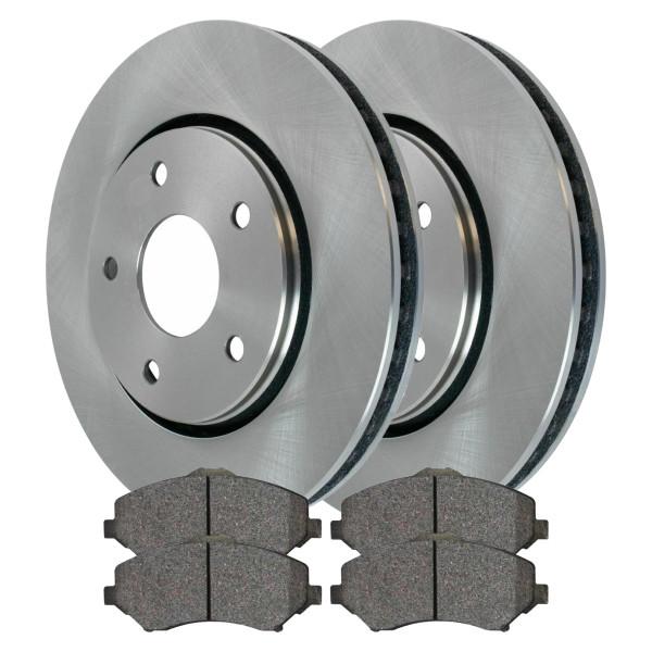 [Front Set] 2 Brake Rotors & 1 Set Ceramic Brake Pads - Part # BRKPKG0351