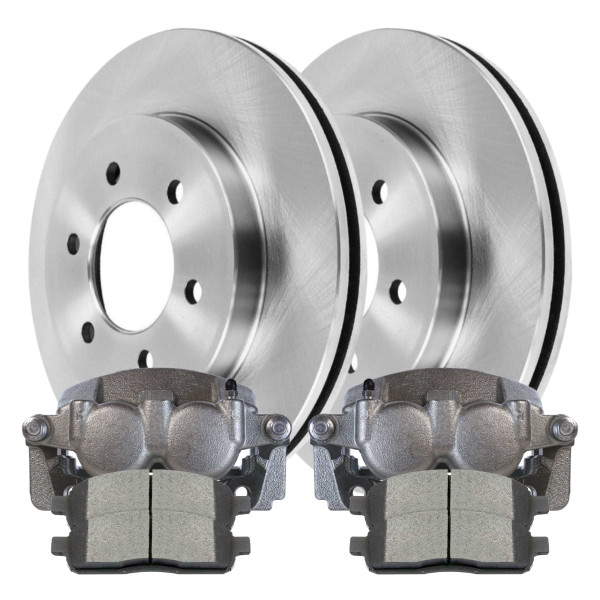 Package of Brake Calipers Rotors and Ceramic Brake pads - Not Rebuilt -No Core - Part # BRKPKG100117