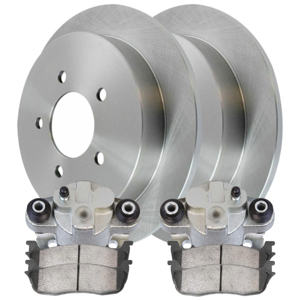 [Rear] Brake Calipers w/Rotors & Ceramic Brake Pads Set - Part # BRKPKG100118