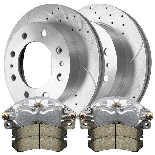 Package of Brake Calipers Rotors and Ceramic Brake pads - Not Rebuilt -No Core - Part # BRKPKG100124