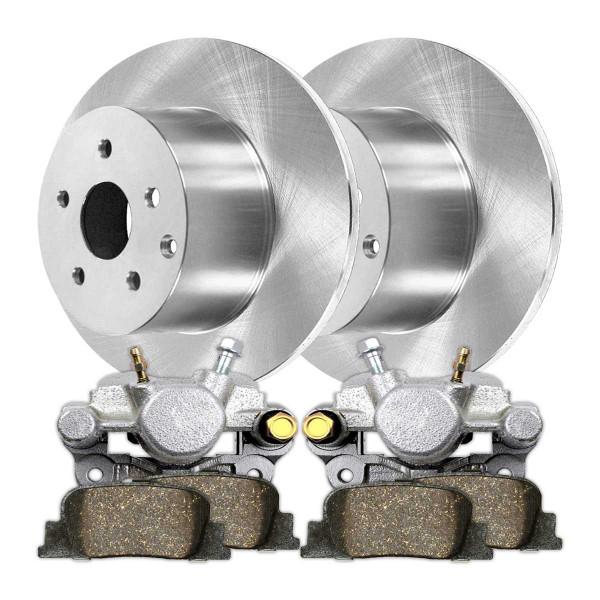 Rear Disc Brake Caliper Ceramic Brake Pad and Rotor Bundle Metal Piston - Part # BRKPKG100128