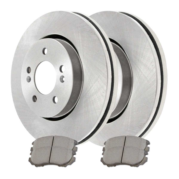 Front Ceramic Brake Pad and Rotor Bundle 5 Stud 11.02 Inch Rotor Diameter - Part # CBO41339924
