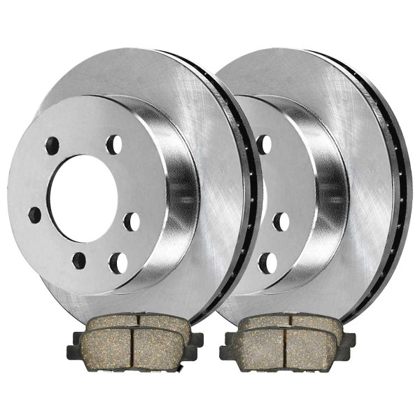 Rear Ceramic Brake Pad and Rotor Bundle - Part # CBO41350905CMU