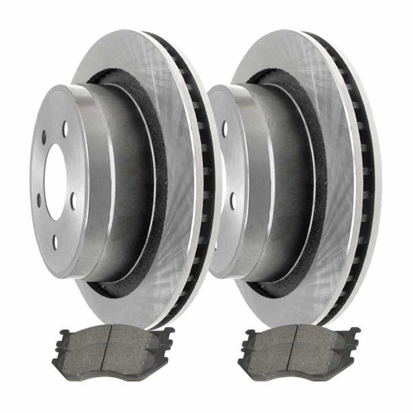 Rear Ceramic Brake Pad and Rotor Bundle 5 Stud - Part # CBO63008967CRA