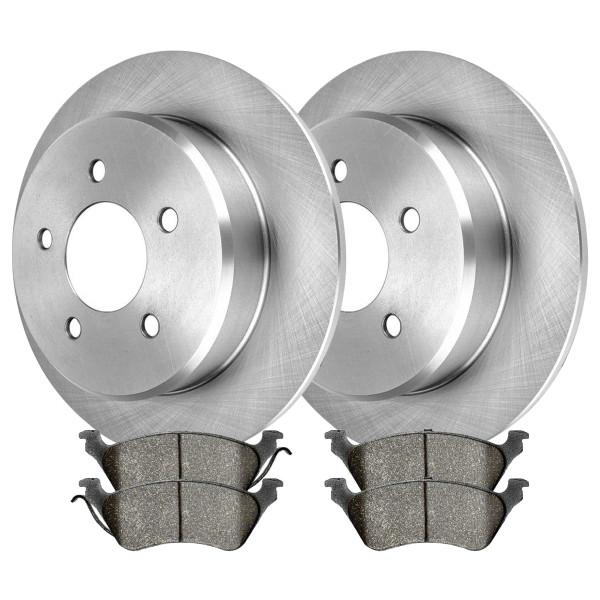 Rear Ceramic Brake Pad and Rotor Bundle 4 Wheel Disc - Part # CBO6385858