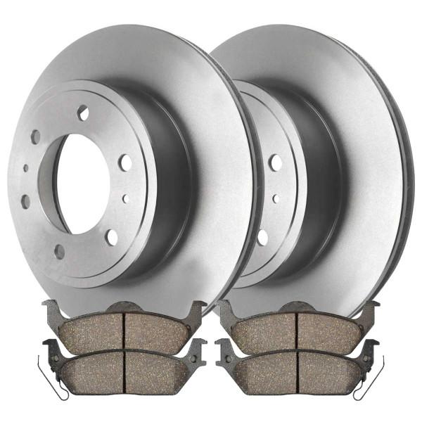 Rear Ceramic Brake Pad and Rotor Bundle 6 Stud - Part # CBO644131012