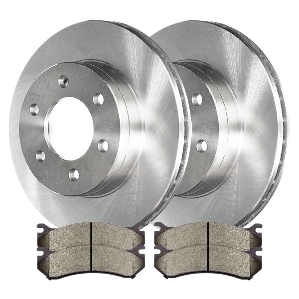 Front Semi Metallic Brake Pad and Rotor Bundle 6 Stud - Part # CBO65056785AVS