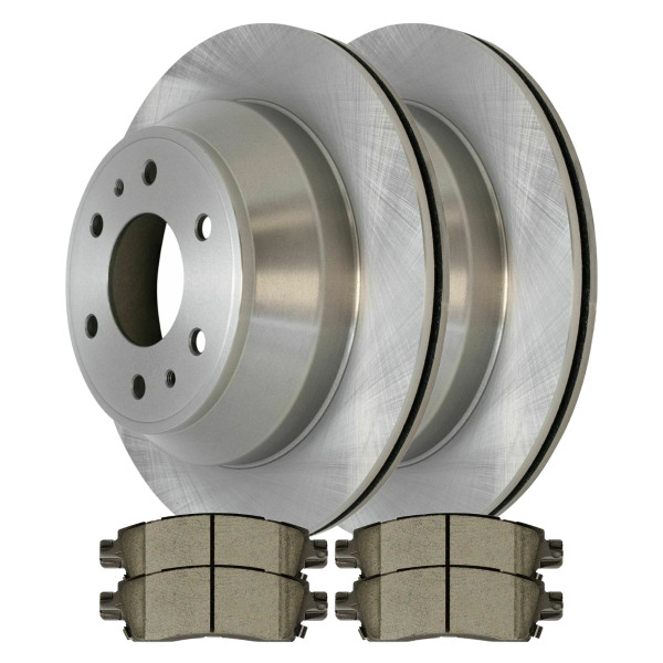 Rear Ceramic Brake Pad and Rotor Bundle - Part # CBO65075883CTR