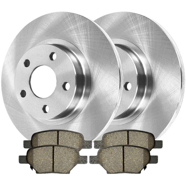 [Rear Set] 2 Brake Rotors & 1 Set Ceramic Brake Pads - Part # CBO650961033CMA
