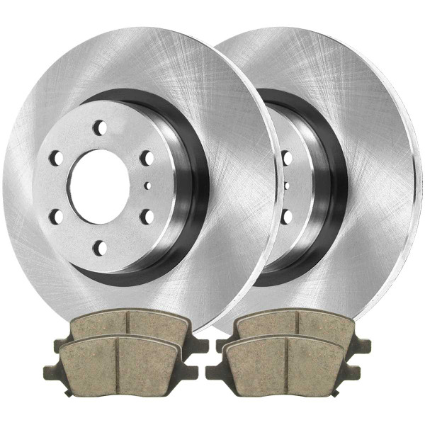 Rear Ceramic Brake Pad and Rotor Bundle - Part # CBO651211093CUP