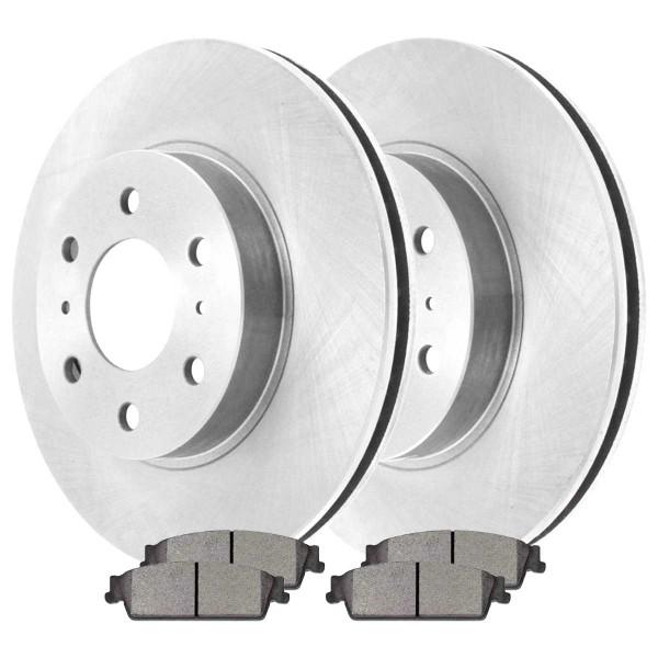 Rear Ceramic Brake Pad and Rotor Bundle 4 Wheel Disc - Part # CBO651351194CAV
