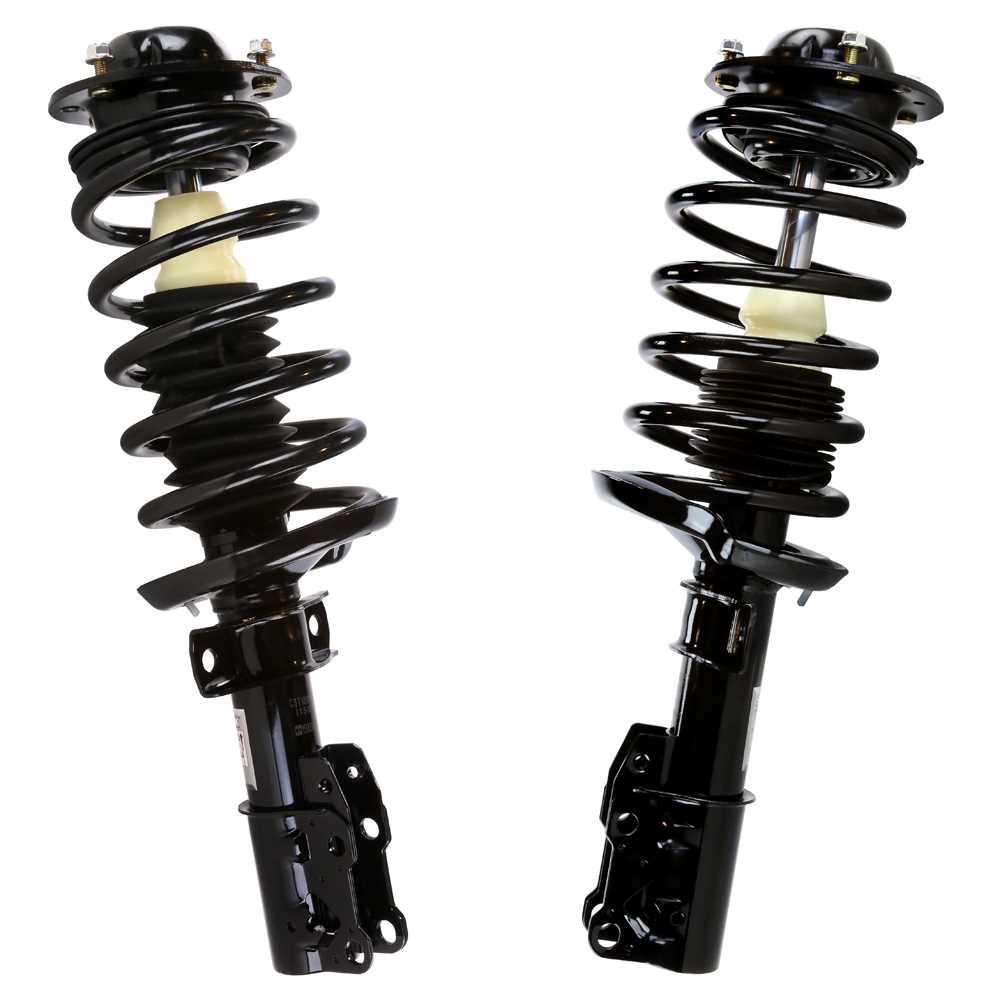 AutoShack CST100153PR Front Complete Strut Assembly Pair 2 Pieces Fits Driver and Passenger Side