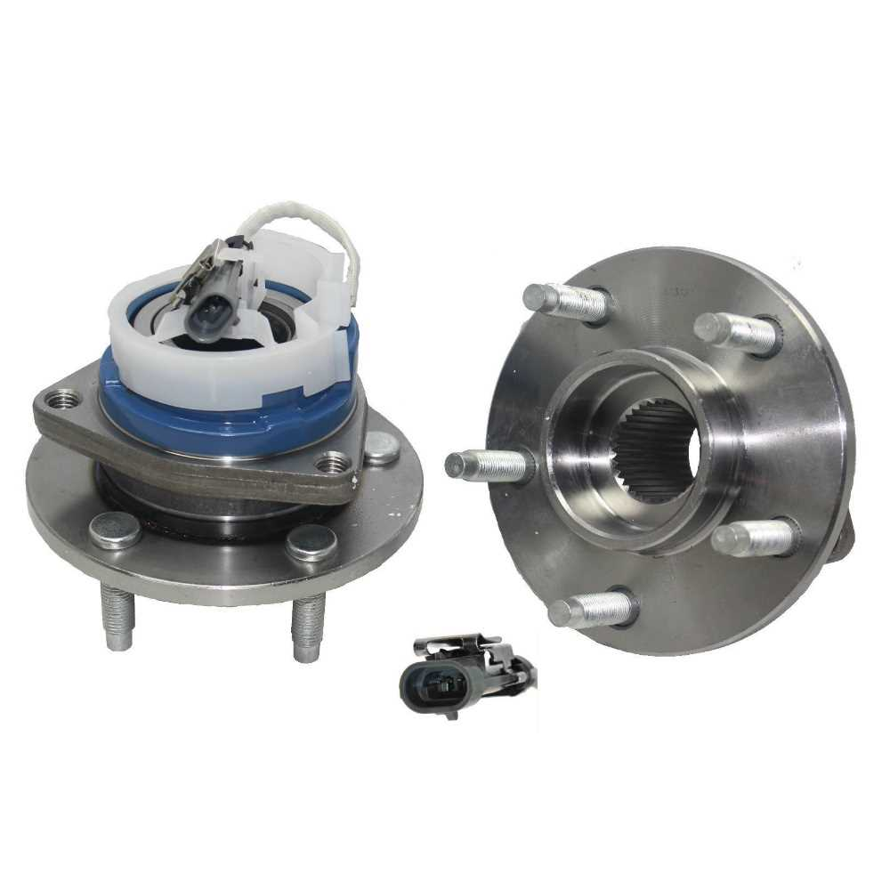 AutoShack HB615092PR Front Wheel Hub Bearing Assembly Pair 2 Pieces Fits Driver and Passenger Side