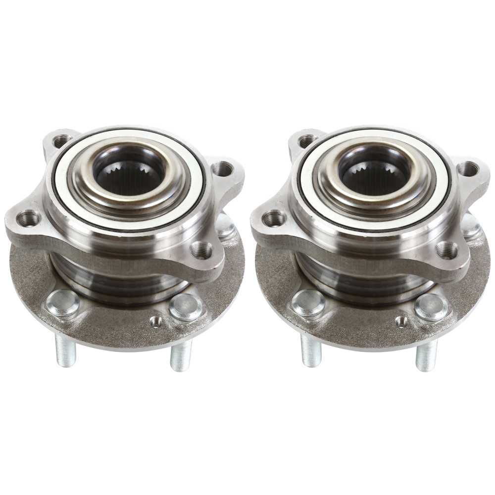 AutoShack HB615068PR Front Wheel Hub Bearing Assembly Pair 2 Pieces Fits Driver and Passenger Side