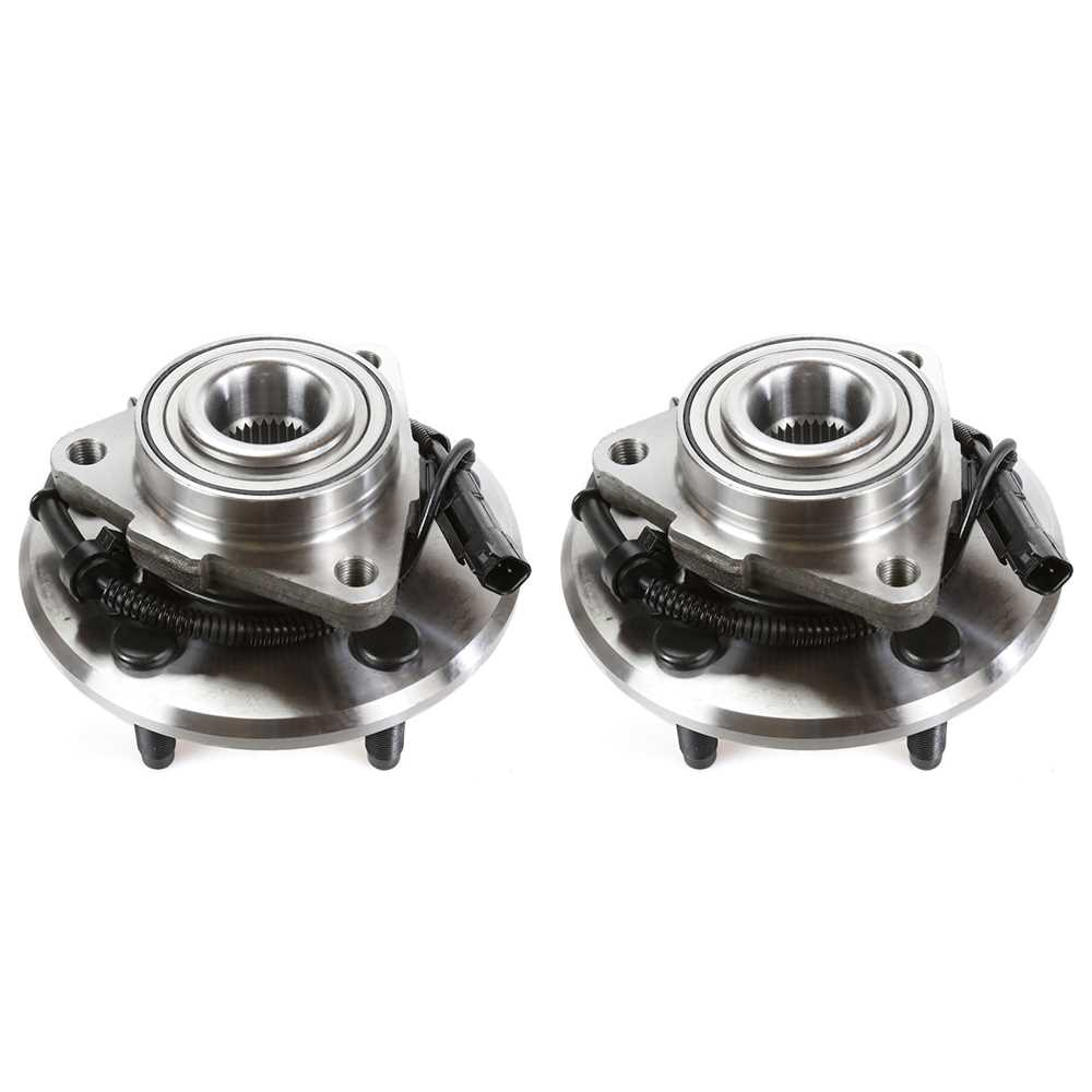 AutoShack HB612003PR Rear Wheel Hub Bearing Assembly Pair 2pc Fits Driver and Passenger Side