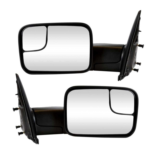 New 02-09 Pickup Truck Manual Towing Side View Mirrors Pair Set Lh Rh - Part # KAPCH1320227PR