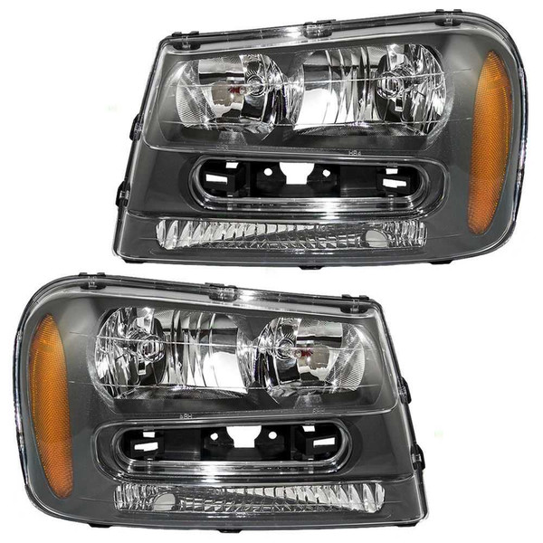 Pair of Chevrolet Trailblazer Headlight Headlamp Assembly Units Front - Part # KAPCV10087A1PR