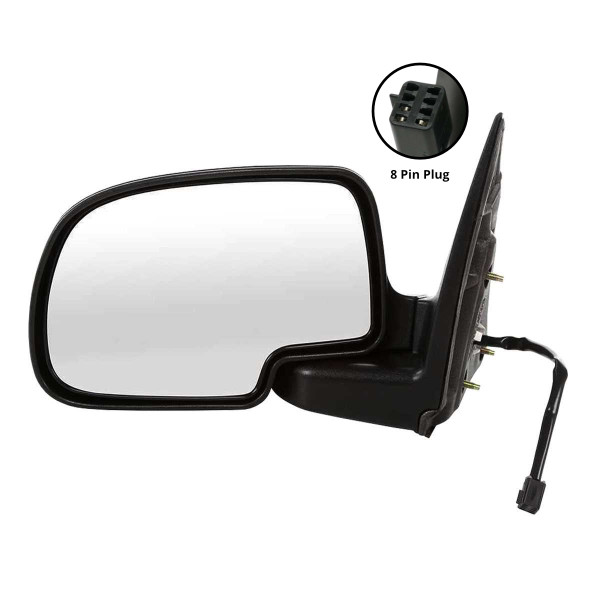 Driver Left Power Chrome Side View Mirror - Part # KAPGM1320174