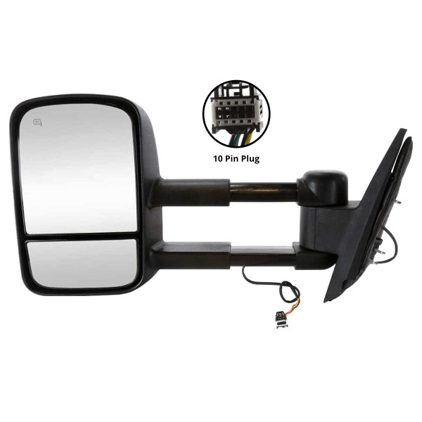 Driver Left Power Heated Towing Side View Mirror - Part # KAPGM1320407