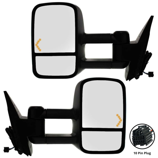 Power Heated Towing LED Signal Side View Mirror Pair - Part # KAPGM1320444PR