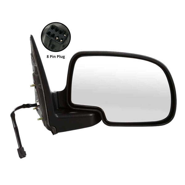 Passenger Right Power Chrome Side View Mirror - Part # KAPGM1321174