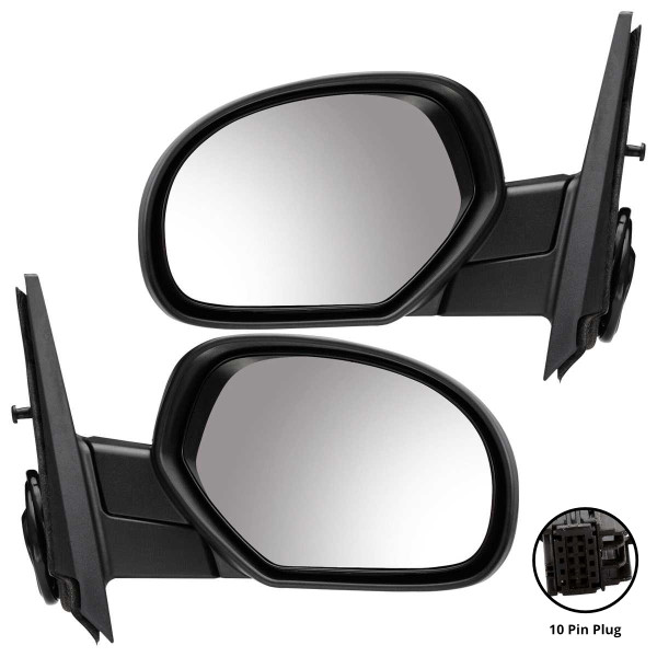 Power Heated Side View Mirror Pair - Part # KAPGM1321325PR