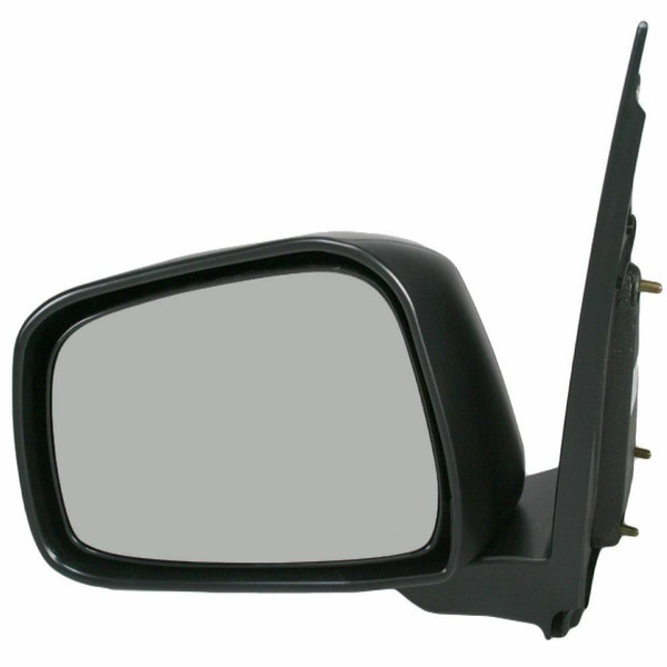 Manual Black Textured Folding Driver Left Side Mirror for 05-15 Nissan Frontier - Part # KAPNI1320154