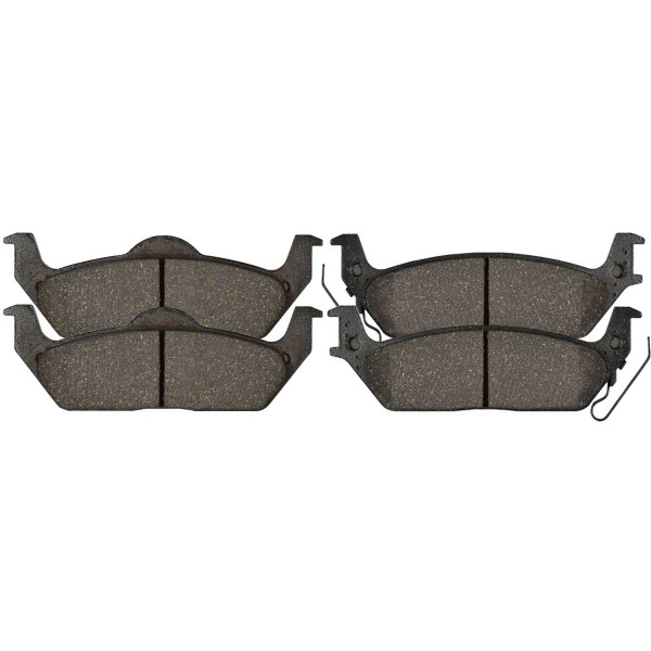 Rear Performance Ceramic Brake Pad Set - Part # PCD1012