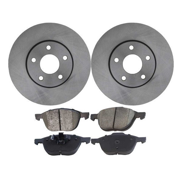 Set of Front Brake Rotors and Performance Ceramic Pads - Part # PCD1044-R64183
