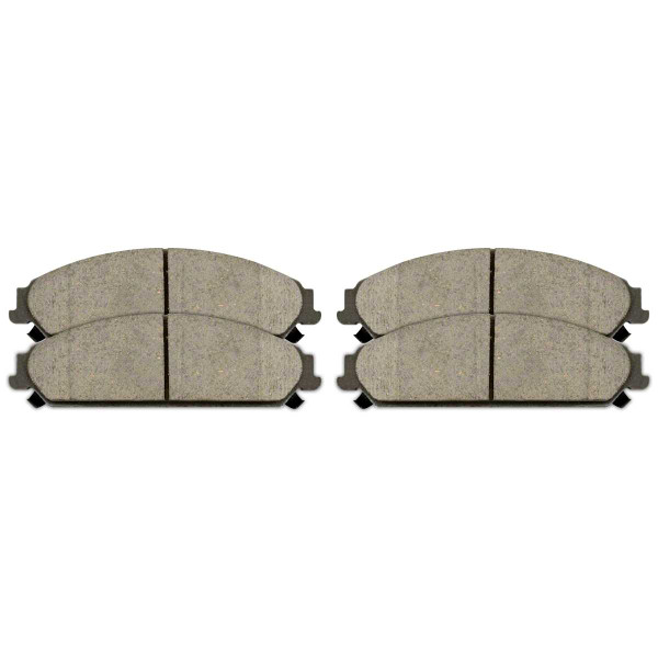 Front Performance Ceramic Brake Pad Set - Part # PCD1058