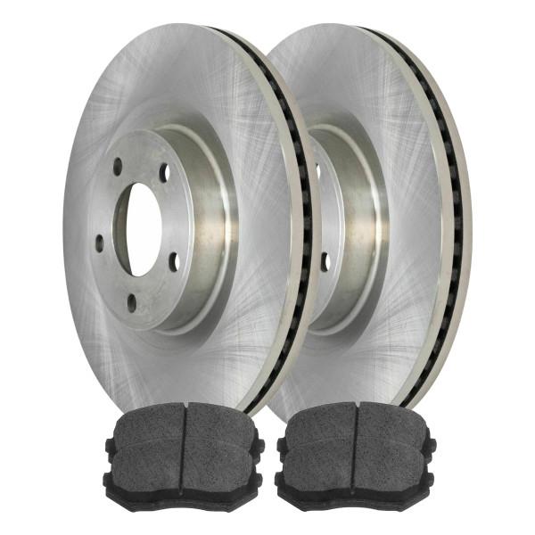 Kit Disc Rotors Pair + Performance Ceramic Brake Pads Set - Part # PCDR12586415664156