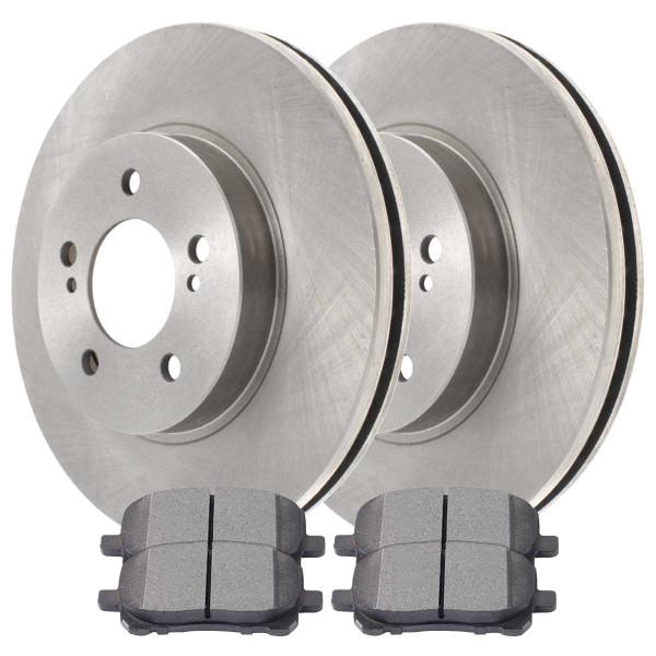 [Set] 2 Brake Rotors & 1 Set Performance Ceramic Brake Pads - Part # PCDR4127241272923