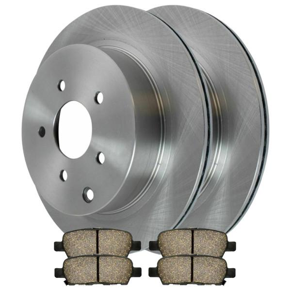 [Rear Set] 2 Brake Rotors & 1 Set Performance Ceramic Brake Pads - Part # PCDR4135041350905