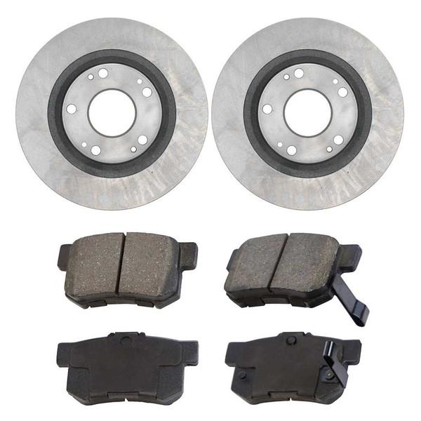 [Set] 2 Brake Rotors & 1 Set Performance Ceramic Brake Pads - Part # PCDR4142241422537