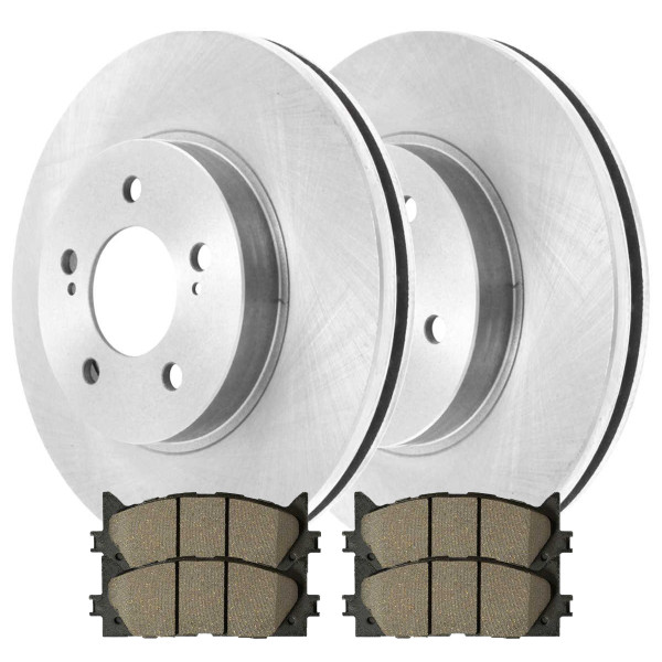 Front Performance Brake Pad and Rotor Bundle - Part # PCDR41436414361293