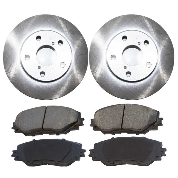 [Set] 2 Brake Rotors & 1 Set Performance Ceramic Brake Pads - Part # PCDR41442414421210
