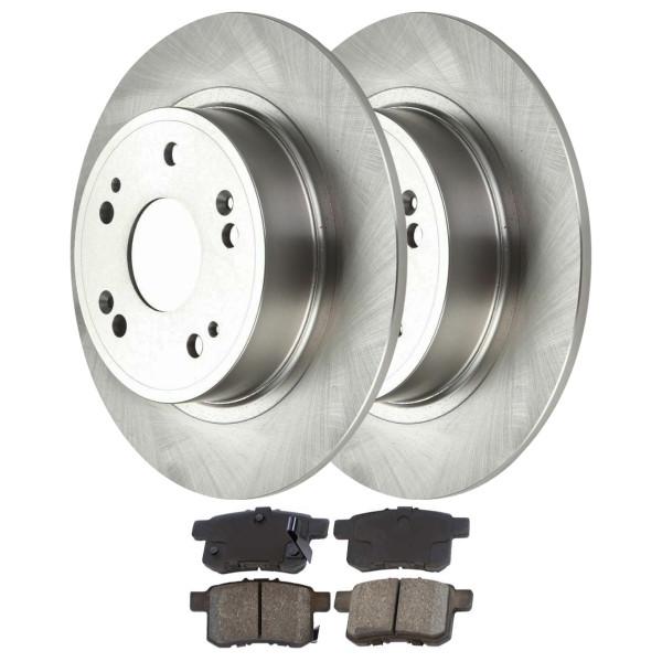 Kit Disc Rotors Pair + Performance Ceramic Brake Pads Set - Part # PCDR41481414811336