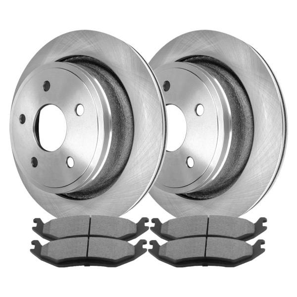 Kit Disc Rotors Pair + Performance Ceramic Brake Pads Set - Part # PCDR6300863008967
