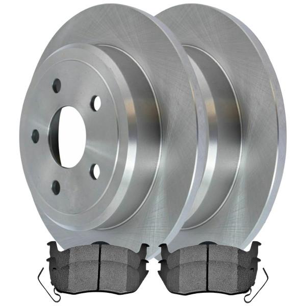 [Set] 2 Brake Rotors & 1 Set Performance Ceramic Brake Pads - Part # PCDR63029630291041