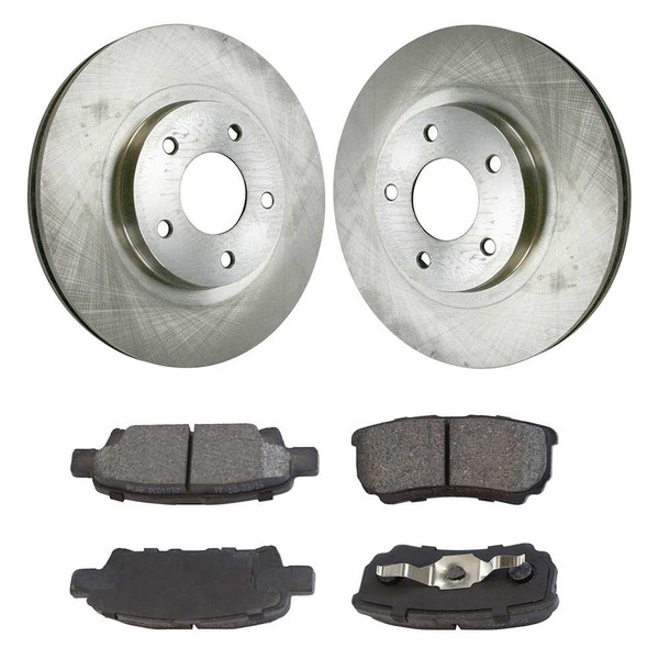 [Set] 2 Brake Rotors & 1 Set Performance Ceramic Brake Pads - Part # PCDR63038630381037