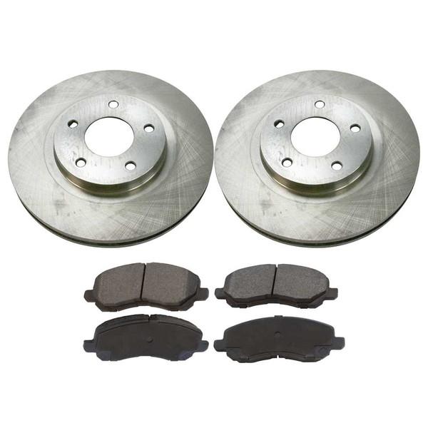 [Set] 2 Brake Rotors & 1 Set Performance Ceramic Brake Pads - Part # PCDR6304063040866