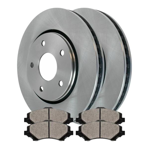 [Set] 2 Brake Rotors & 1 Set Performance Ceramic Brake Pads - Part # PCDR63053630531273
