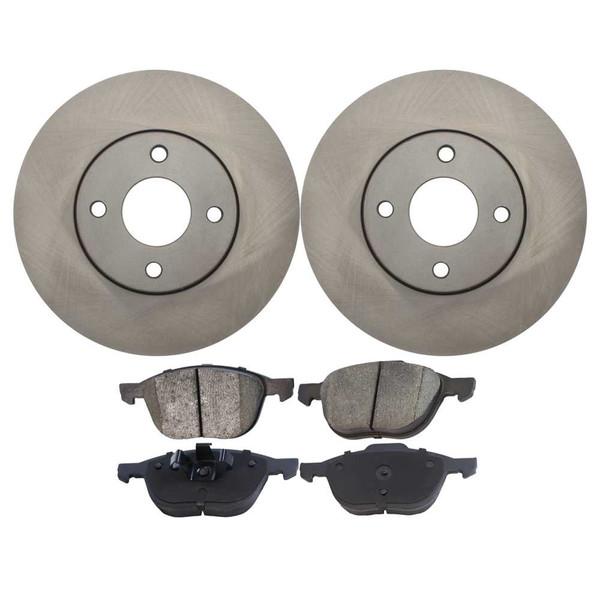 [Set] 2 Brake Rotors & 1 Set Performance Ceramic Brake Pads - Part # PCDR64134641341044