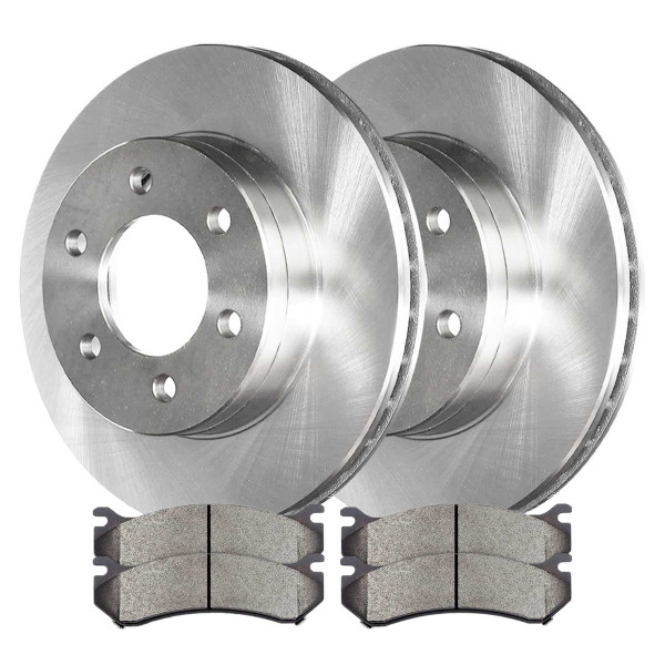 [Set] 2 Brake Rotors & 1 Set Performance Ceramic Brake Pads - Part # PCDR6505665056785