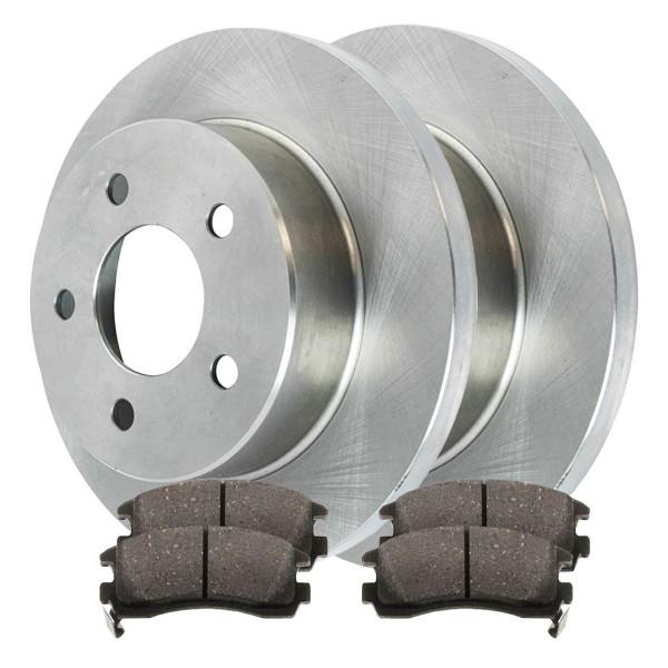 [Set] 2 Brake Rotors & 1 Set Performance Ceramic Brake Pads - Part # PCDR6506765067698